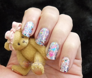 Girly Graffiti Nails