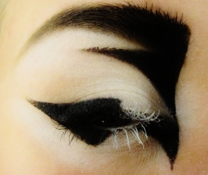 I love Graphic Eyeliner! This one is not perfect but i think it looks kinda cool anyway :)  Like me on Facebook! http://www.facebook.com/pages/Makeup-Is-Art/455624517797347