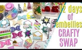 Christmas Embellishment Ideas, 12 days of Crafty Christmas advent calendar swap