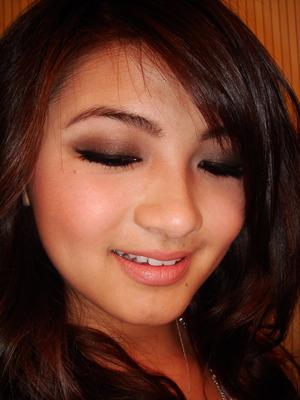 One color gradient makeup