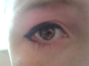 Nice eyeliner with volume million lashes :D