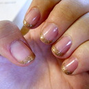 Gold-french Manicure