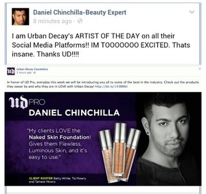 I am featured as Urban Decays Artist of the day!! :)