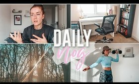 DAILY VLOG IN ISOLATION   REARRANGING THE OFFICE + 8 WEEK CHALLENGE