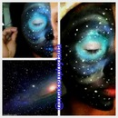 galaxy makeup look