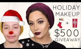 Holiday Makeup Haul + $500 Giveaway + Tutorial | Nura Afia