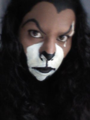 A simple face painting of my version of Scar from the Lion King