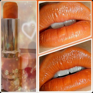 Orange crayon lipstick made by myself