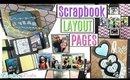 Scrapbook Layout Pages FLIP THROUGH, DIY Interactive Scrapbook Pages for 1 year anniversary Gift