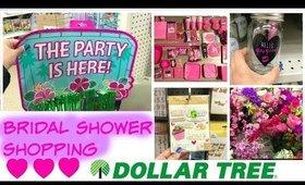 Dollar Tree Vlog : Girly Bridal Shower Shopping