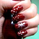 Venique Runway Sparkle : Red With  Snowflakes