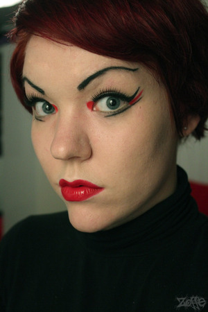Props if you know where this makeup is from! :P  Tutorial is recorded, just need to edit+upload it :)