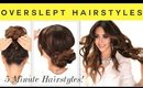 ★3 EASY OverSlept HAIRSTYLES | SCHOOL Braid + Curls +  Messy Bun  Hairstyle
