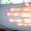 Hot Pink French Mani