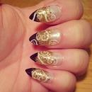Gold & Black with Swirls