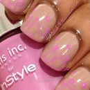 Nude and pink gradient and dots