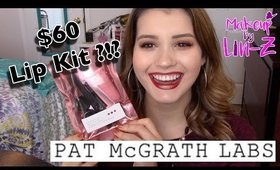 $60 LIP KIT?!? Pat McGrath Labs Lust 004 Lipstick Kit (Bloodwine)