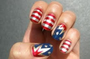 Fashionable Nailart for Memorial Day or 4th of July!!!