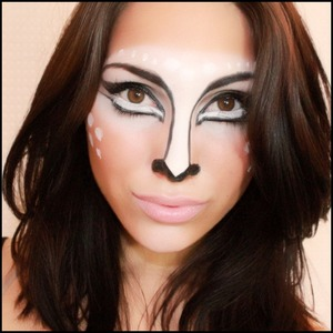 Bambi inspired makeup