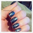 Chanel and LA Girl glitter gradient