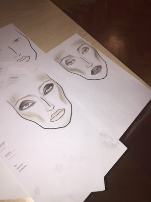 My firsts face charts ever! What do u think ? Please be honest ! Thank u means a lot because this is the only way I can improve xx