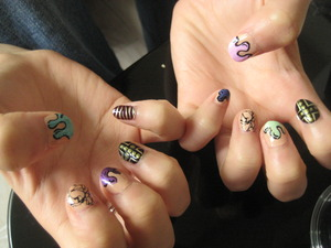 i did my friend's nails and we <3 them!