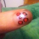 really easy chetta print on nail