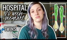 26 WEEKS HIGH RISK PREGNANCY WITH TWINS BELLY | Hospital Update  | Twin Tuesday