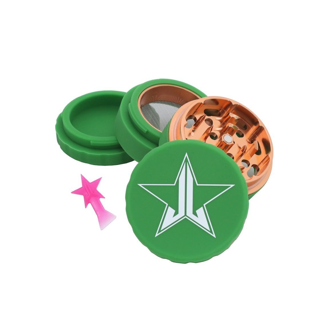 Jeffree Star Cosmetics 63mm Grinder Soft Touch Green product swatch.