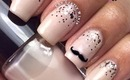 Easy Mustache Nails by The Crafty Ninja