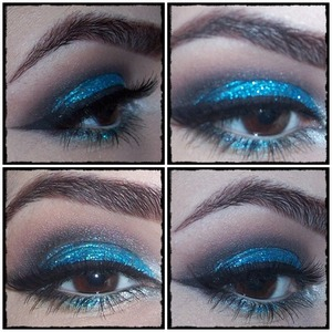 I was inspired on this look from  the sparkly and glittery fireworks on New Year's Eve