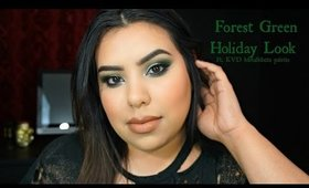 Forest Green Holiday Look Ft. KVD MetalMatte Palette