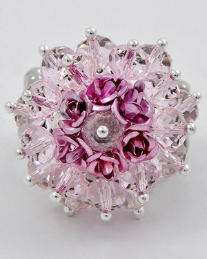 Pink Glass Crystal 14