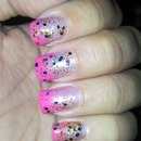 pink degrade nails