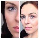 Orange/Coral spring makeup