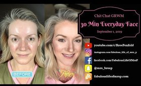 GRWM 30 Minute Face   Worst End To Summer   Everyday Makeup   Fabulous Life of Mrs. P