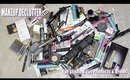 HUGE MAKEUP DECLUTTER - Eyes & Brows | I GOT RID OF 50% OF MY COLLECTION!!!