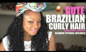 MaxGlam Brazilian Curly Aliexpress Hair Extensions | Blending and Review!