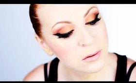 Smokey Cat Eye Makeup in Bronze Colors
