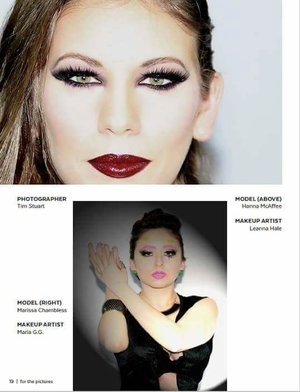 Check out my published work with Model Marissa Chambless and Photographer Tim Stuart on page19 in FTP magazine.  Order it here http://www.magcloud.com/browse/issue/1054979 Instagram:https://www.instagram.com/makeupbymariag.g/ Facebook:?https://m.facebook.com/makeupbymariag.g/ YoutmTube:?https://m.youtube.com/channel/UCmahKf_yzCgr9aWp8r8woTw Beautylish:?https://www.beautylish.com/profile/izguni Email:?makeupbymariag.g@gmail.com