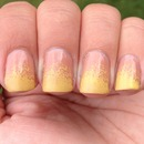 Yellow gradient tip nails