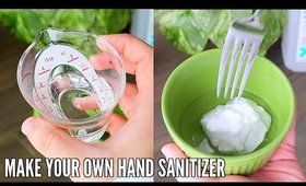 How To make HAND SANITIZER with stuff you already have at home!