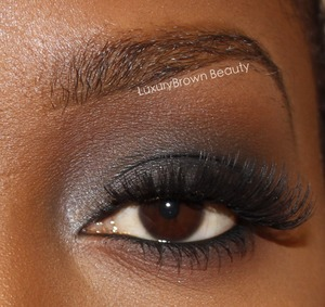 Classic smokey eye with silver accent. Full details on my blog!