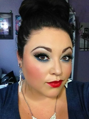 This is how I did my Makeup for the 4th of July