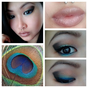 Eyes make up Peacock style