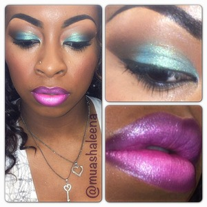 Inglot Pigment on eyes.  Lips Covergirl Enchantress Lipstick lined with MAC Nightmoth Lipliner