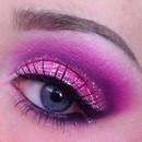 Purple and Pink Glitter Cut Crease