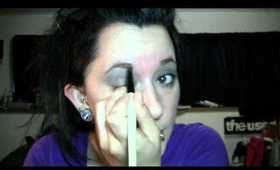 Dramatic Brown and Grey Eyeshadow