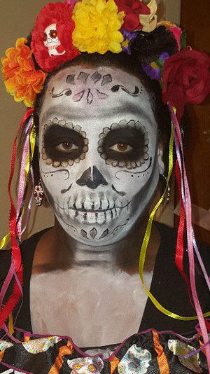 This Halloween was my first attempt at Sugar Skull makeup. I did my 2 daughters as well and I'm quite pleased. Just wanted to share. Hope you like it too! ??