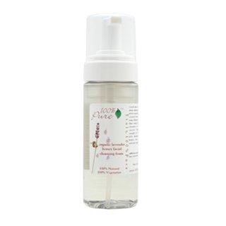 100% Pure Organic Lavender Honey Facial Cleansing Foam